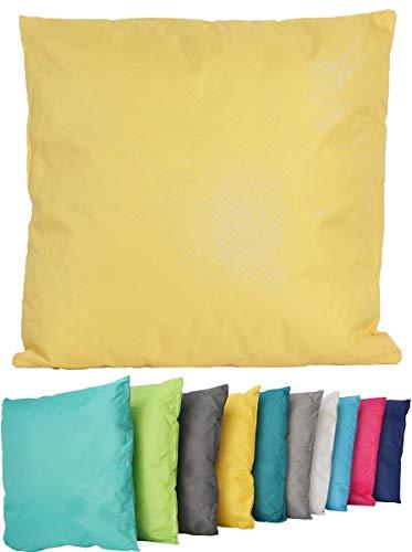 Coen Bakker Outdoor Lounge Kissen 45x45cm Dekokissen Wasserfest Sitzkissen Garten Stuhl Lotus Effekt, Farbe:Gelb