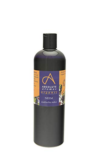 Absolute Aromas Organic Neem Oil 500ml - Pure, Natural, Cold-Pressed, Vegan and Cruelty Free