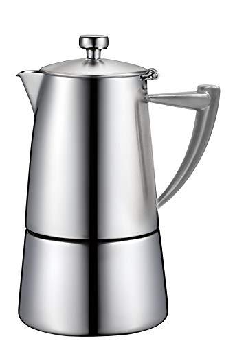 Cuisinox Roma Moka Espressokocher für 6 Tassen, Edelstahl