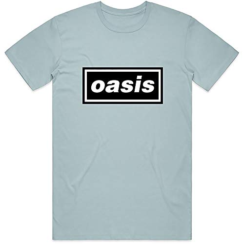Official Classic Oasis Logo T-Shirt Definitely Maybe Alternative Rock Band