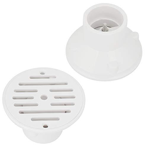 Desagüe de piscina, desagüe blanco Drenaje de piso Suministro de agua ajustable Filtro enchufable ajustable Hecho de Pvc para suministro de agua y volumen de agua ajustable, conveniente y práctico.