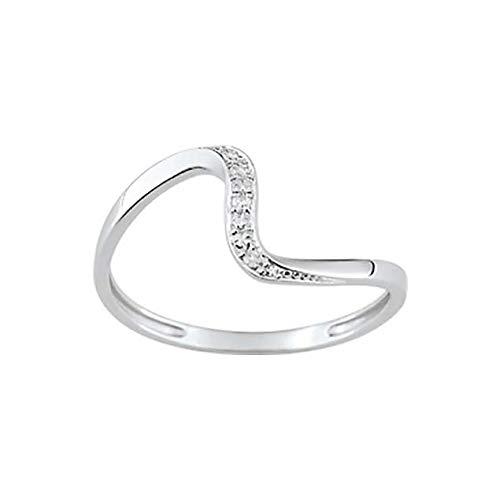LuckyOneBijoux.com Anillo Dubai – Diamantes de oro blanco