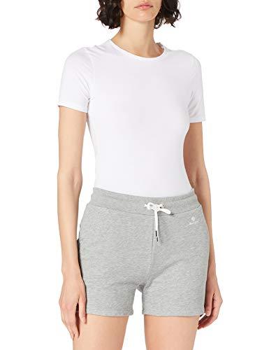 GANT Damen Lock UP Sweat Shorts, Grey Melange, XL