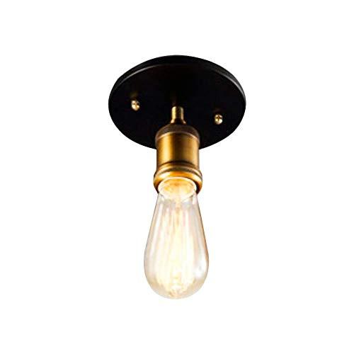 ALBN Retro Single Copper Head Deckenlampe, Edison E27 Kupferrohr Industrieller Steampunk Pendelleuchte Kronleuchter fur Schlafzimmer, Bar, Restaurants, Cafe, Club-Wohnkultur