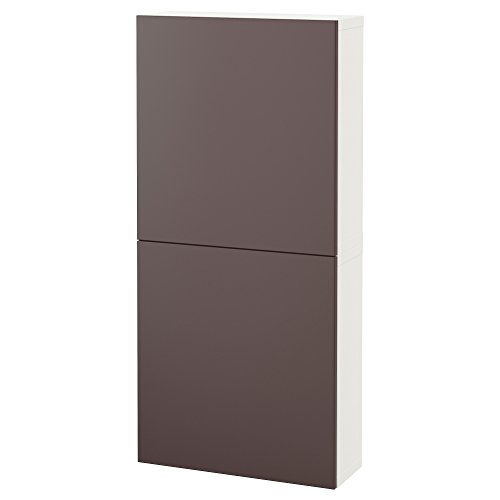 Zigzag Trading Ltd IKEA BESTA - Armario de Pared con 2 Puertas Blanco/marrón Oscuro valviken