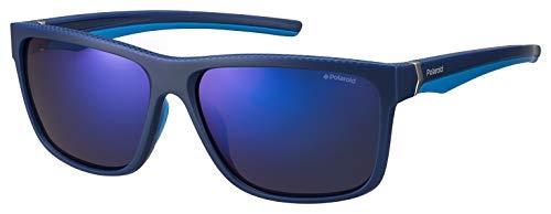 Polaroid Herren Pld 7014/S 5x Sonnenbrille, Blau (Blutezure/Grey Blue), 59