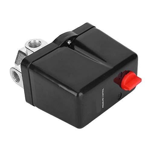 Bediffer Interruptor de presión de aire de 4 vías Interruptor automático Interruptor de aire trifásico para sistema penumatic para tanque de almacenamiento de aire