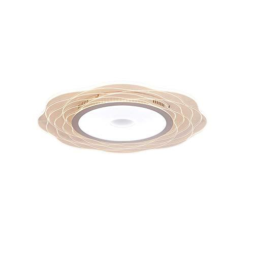 Lámpara de techo LHY LED Lámpara de Sala Lámpara de Dormitorio de Ambiente Moderno Simple Lámpara de habitación Creativa romántica cálida Exquisito (Color : Stepless dimming, Size : 45 * 45 * 5cm)
