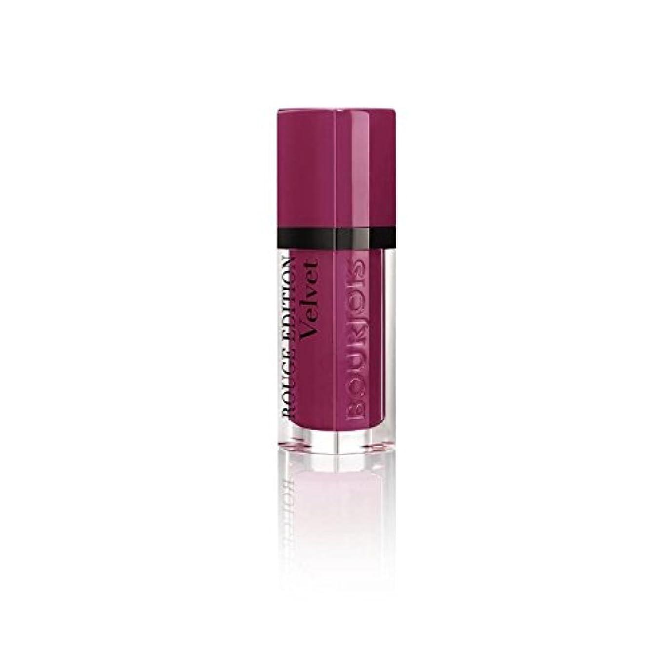 破壊的なよろしく言語学ルージュ版のベルベットの口紅、梅梅の女の子の8ミリリットル (Bourjois) - Bourjois Rouge Edition Velvet Lipstick, Plum Plum Girl 8ml [並行輸入品]