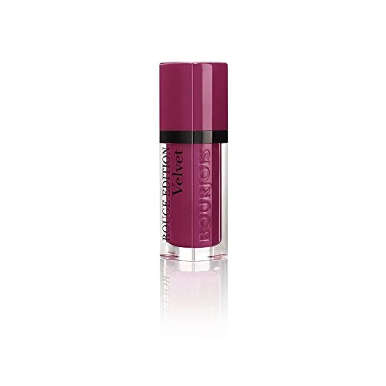 硬化する地下悪行ルージュ版のベルベットの口紅、梅梅の女の子の8ミリリットル (Bourjois) (x 4) - Bourjois Rouge Edition Velvet Lipstick, Plum Plum Girl 8ml (Pack of 4) [並行輸入品]