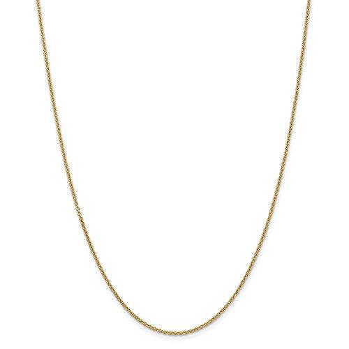 Diamond2deal 14K giallo oro 1.6mm cavo catena collana 40,6cm