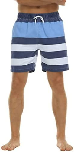 Nonwe Men's Summer Beach Board Shorts Casual Trunks with Mesh Lining