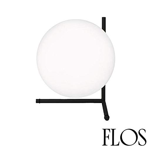 Flos IC T2 tafellamp E27 205W glas opaal zwart