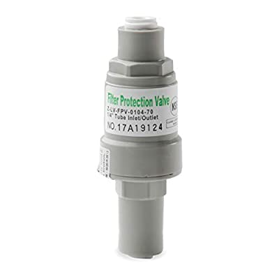 iSpring APR70 Pressure Regulator & Protection Valve for water filters, 1/4-Inch Quick Connect, MAX 70 PSI by iSpring Water Systems