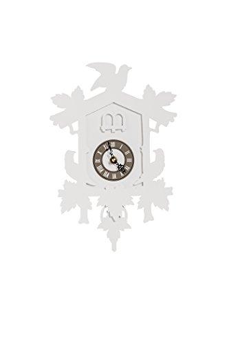 Fundeco Cuckoo Clock, Small, White