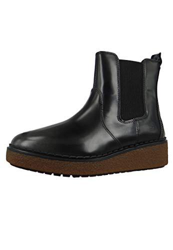 Timberland A24X2 Bluebell Lane Chelsea Boot Damen Leder Stiefelette Medium Grey Brush Off Grau, Groesse:37 (6 US)
