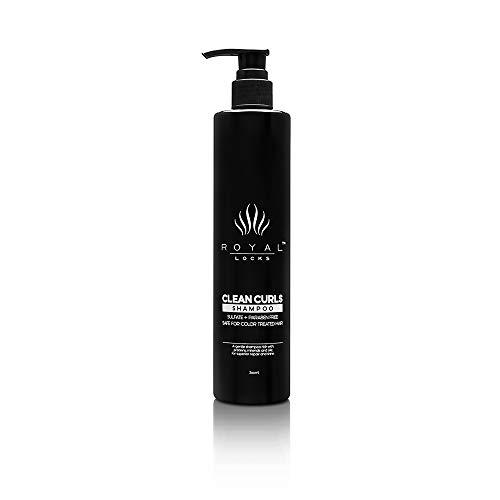 Royal Locks-Clean Curls Shampoo | Curly Hair Shampoo with Argan Oil | pH balancing, For Wavy & Curly Hair, Sulfate & Paraben Free (10 Oz)