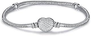 Charm Bracelets - Original Silver Plated Charm Bracelet Rose Gold Snake Chain Fit Basic Bracelets For Women Charms DIY Jew...
