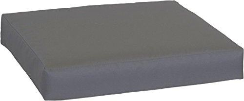 Beo LKP 80 x 60PY202 - Cojín para sofá con Cierre de Cremallera y Tejido Impermeable, Color Antracita, 80 x 60 cm