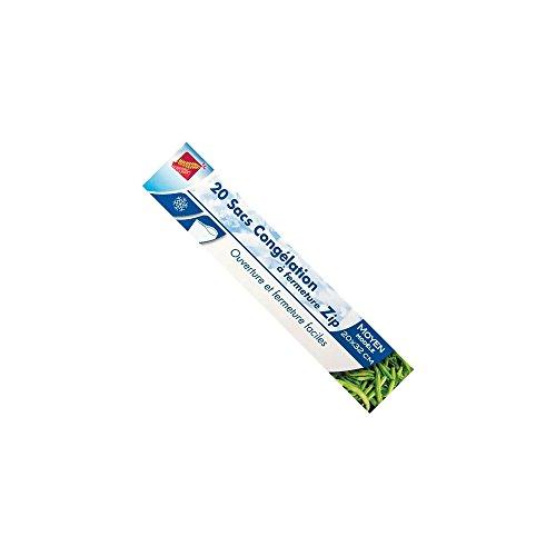 Sac de congélation avec zip - x20 - moyen modèle - 20x32 cm