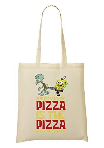 ShutUp Krusty Krab Pizza Tragetasche Einkaufstasche