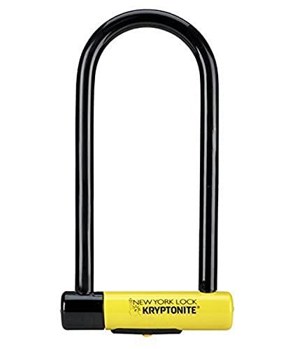 Kryptonite New York LS Fahrradschloss, robust, U-Form, unisex, SperrenSchloss, GK002161, gelb, Long Shackle