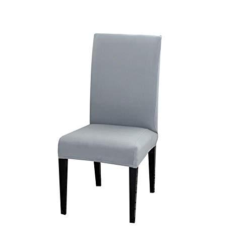 LZHLMCL Maschinenwaschbarer Stuhl Schonbezug Stuhlbezug Aus Elastischem Stoff Dining Abnehmbarer Sitzbezug Staubdicht Hochzeiten Hausstuhlbezug Hellgrau 1St