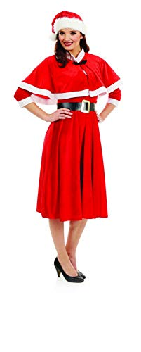 Fun Shack Womens Santa Costume Adults Caped Christmas Party Festive Dress Outfit - X-Large