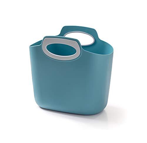 GF Garden FOR 2 Everyday Bolso de plástico, contenedor, con Asas, Colorido, Azul