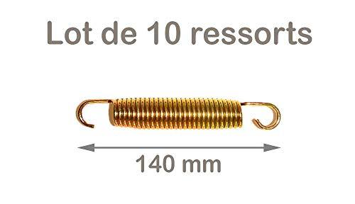 Kangui Lot de 10 Ressorts Gold 140mm pour Trampoline de Jardin