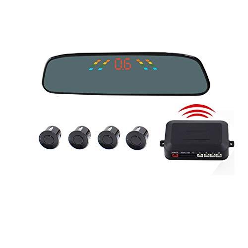 Coche pantalla de visión trasera CCI PZ-306-W Aparcamiento coche marcha atrás Sistema de Asistencia de Aparcamiento Zumbador de alarma Pantalla LCD de 4.3 pulgadas inversa Inalámbrico sensores de apar