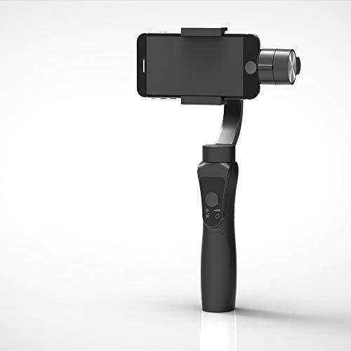 MHUI Handheld-Stabilisator Kardanisch Um 360 ° Drehbar, Zweiwege-Netzteil, Sorgenfreie Intelligente Verfolgung, Sanfter Zoom-Rollarm, Zeitrafferfotografie,