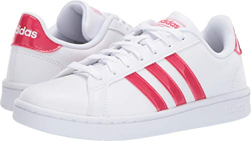 adidas Originals Grand Court White/Active Pink/White 8.5 B (M)