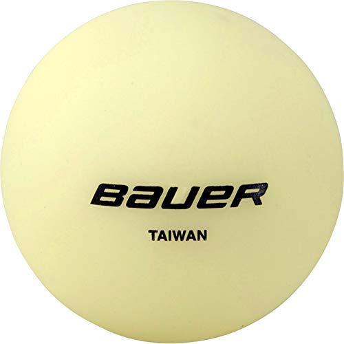 Bauer Unisex– Erwachsene Hockeyball Glow in The Dark, gelb, Einheitsgröße