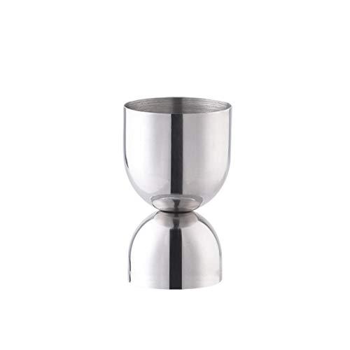 Aosong Vaso medidor de cócteles de acero inoxidable con dos extremos, 15 / 30 ml, 25 / 50 ml, vaso medidor con dos capacidades para bar, vino o cóctel.