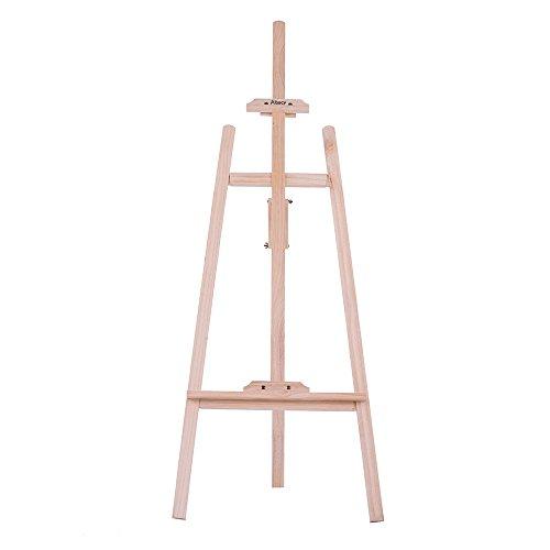 Aibecy 150 cm / 59 Zoll Dauerhaft Holz Staffelei, Künstlerprofi, Tischstaffelei, NZ Kiefer für Künstler Malerei Skizzieren Ausstellung (Rückenstütze)