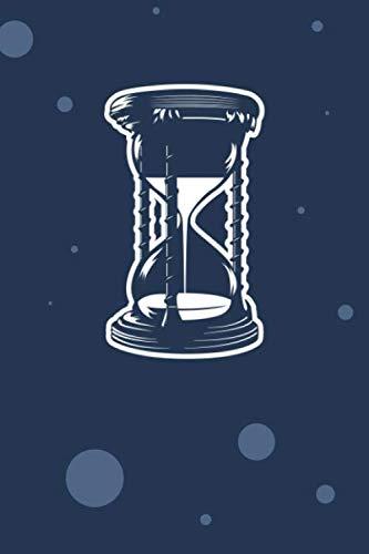 SKIZZENBUCH: Oldschool Liebhaber Notizbuch Blanko A5 - 120 Seiten für Notizen Skizzen Zeichnungen - Sanduhr Deko Geschenk für Retro Liebhaber Vintage Liebhaber - Stundenglas Notizheft Retro Uhr