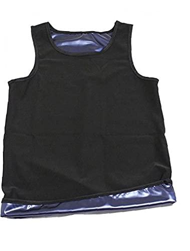 Chaleco De Sauna De Los Hombres, Chaleco Caliente Sauna Sweat Top Top para La Perspiración Pérdida De Peso Transporte Control De La Abdomen Cuerpo Completo Shaper S/M
