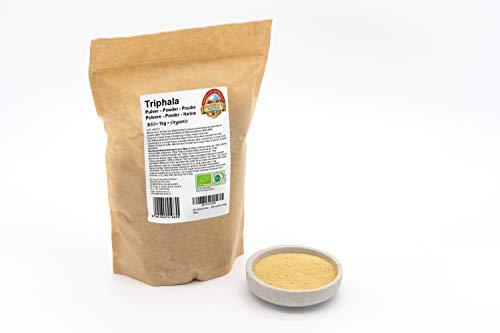 Bio Triphala Pulver – 1kg – 100 % rein und naturbelassen – Ohne künstliche Zusätze – Rohkost – Vegan