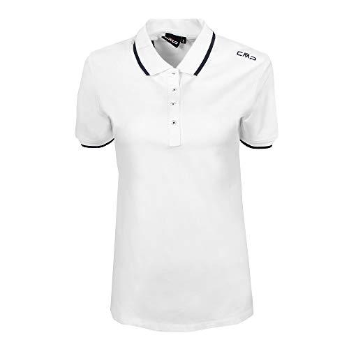 CMP Womens Piquet Polo Shirt in 95 Cotton T Shirt Womens T Shirt 39D8356 White D48