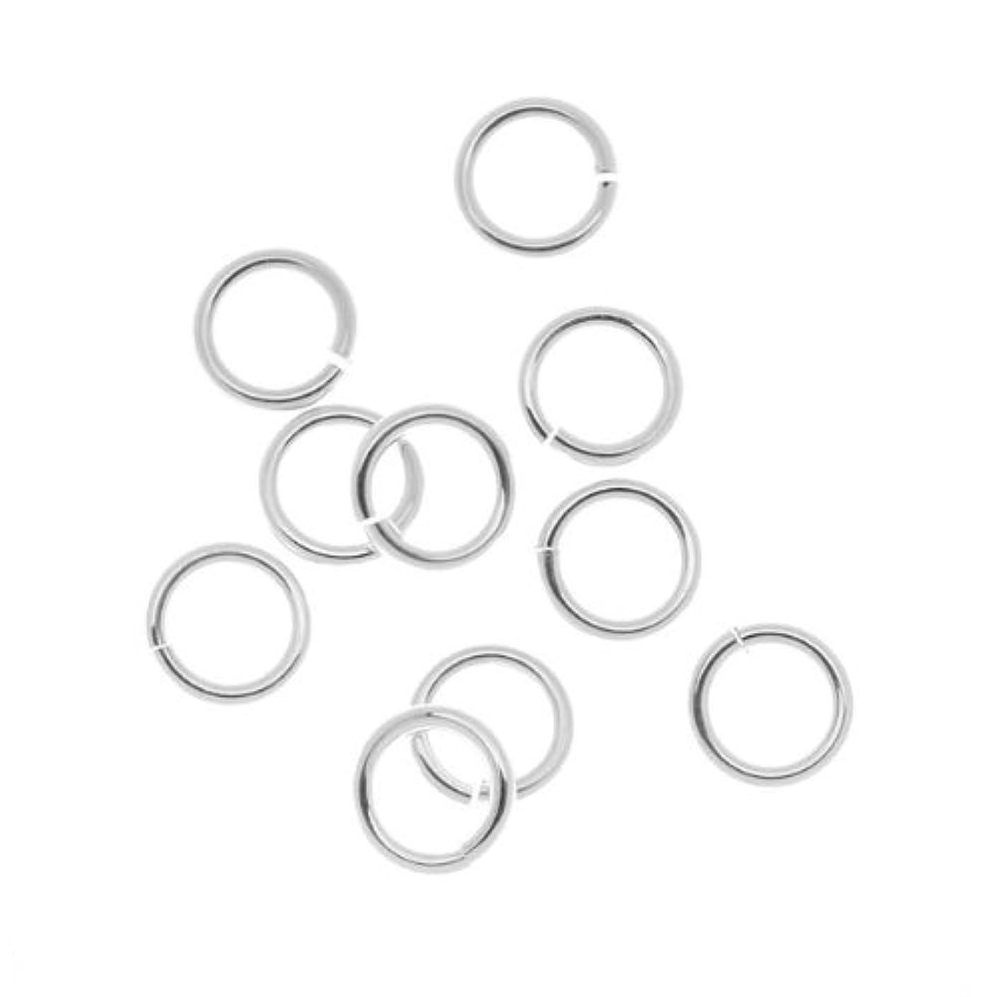 Beadaholique 10-Piece Sterling Jump Lock Rings, 8mm, 16-Gauge, Silver
