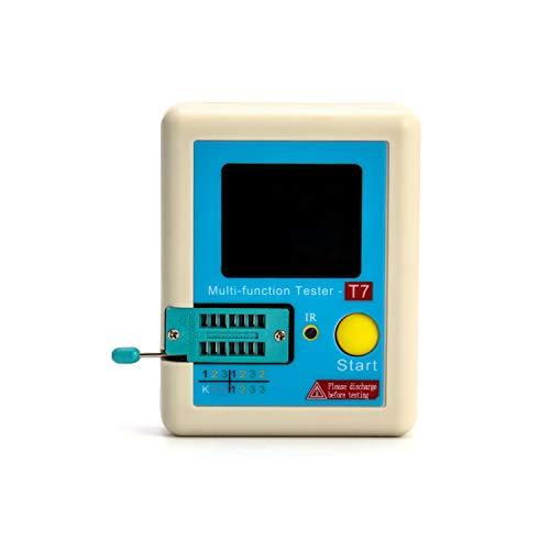 QWORK LCR-T7 Multifunctional Transistor Tester,Colorful Display for Diode Triode Capacitance Meter LCR ESR Meter