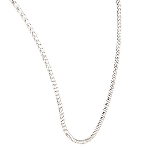 Jollys Jewellers Collar de plata de ley de 41,3 cm (1 mm de ancho) para mujer