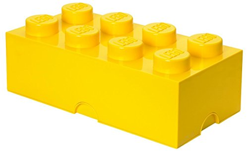 Lego Ladrillo de Almacenamiento 8 Grande Amarillo