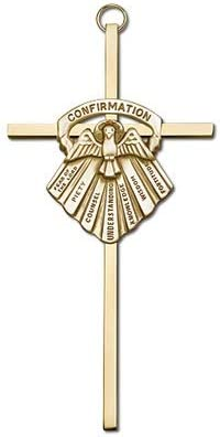 Seven Tulsa Mall Gifts of Holy Spirit Gold Plated Wall Inch Miami Mall Cross 6