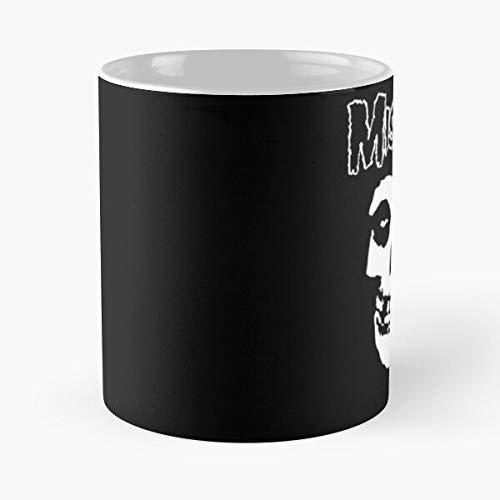 FashionNut Rock Music Punk Logo Misfits White and Black The Best 11 oz Kaffeebecher - Nespresso Tassen Kaffee Motive