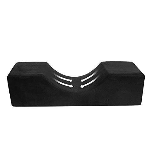 Eyelash Extension Pillow, Memory Foam Pillow Ergonomic Support Curve Pillow Grafting Eyelash Pillow Neck Support, Waterproof Neck U Shape Anti Slip Headrest, 50 X 20 X 13cm