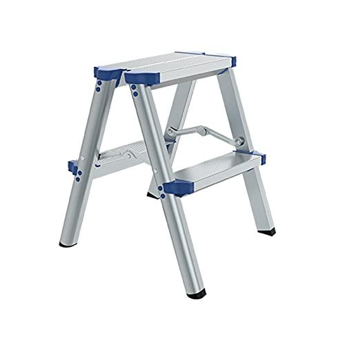 CJXing-stepladders Scale Multifunzione, Lega di Alluminio Stabile Stabile Punte Pieghevole Interno Addice Attico Scale Attico Home 2-5 Scala Scala Scale Pieghevoli(Size:43 * 36.5 * 50CM)