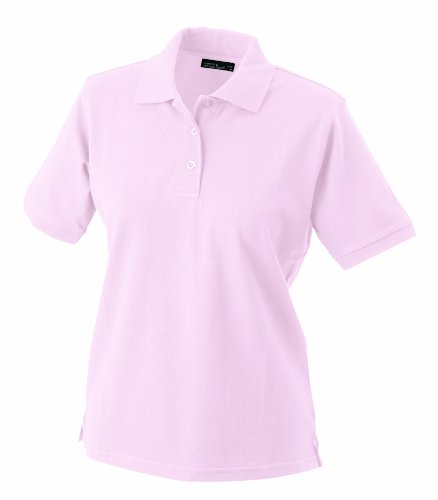 James & Nicholson Damen Ladies' Polo Poloshirt, Rosa (rosa), Medium