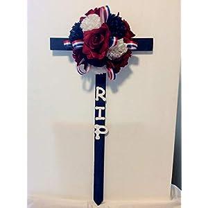 Patriotic Cemetery Cross, Memorial Flowers